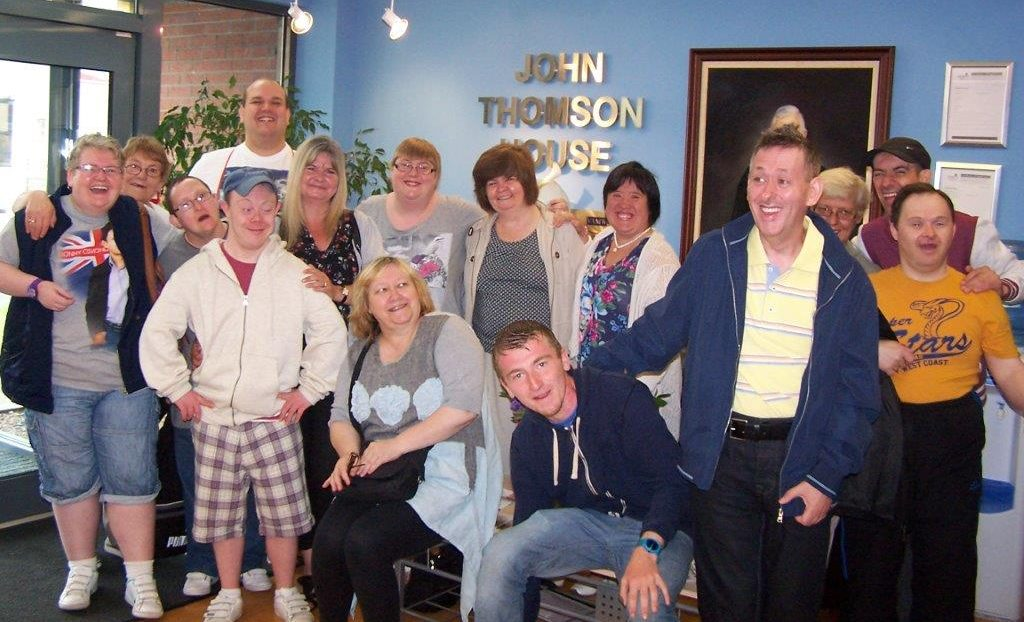 Group shot of staff and clients